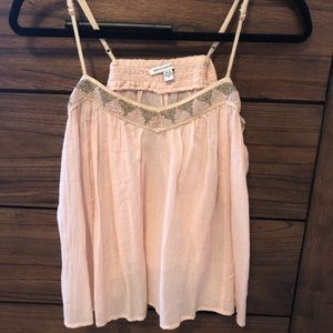 Pink with gold beads cami